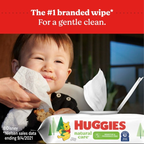 Huggies Natural Care Sensitive Fragrance Free Baby Wipes Refill Packs Perspective: bottom