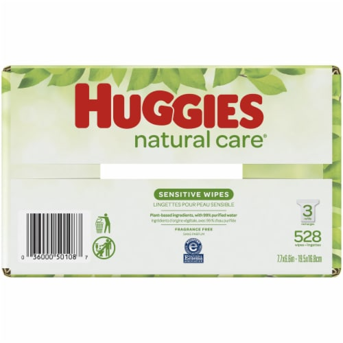 Huggies Natural Care Unscented Baby Wipes Perspective: bottom