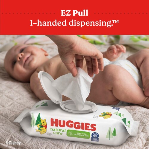Huggies Natural Care Unscented Sensitive Baby Wipes Perspective: bottom