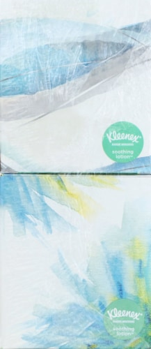 Kleenex Soothing Lotion Facial Tissues Cube Boxes Perspective: bottom