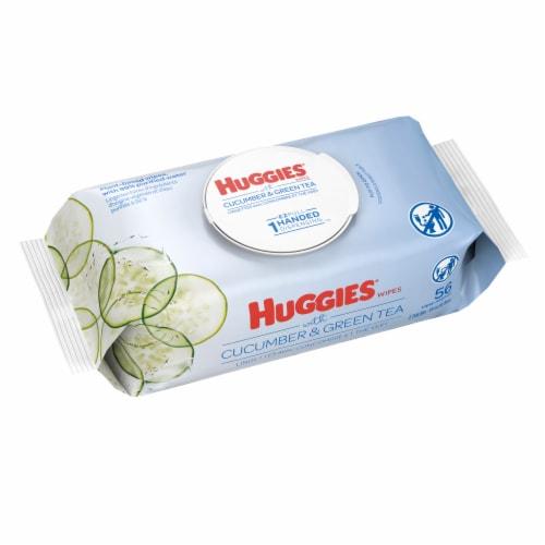 Huggies® Refreshing Cucumber & Green Tea Scent Baby Wipes Flip-Top Pack Perspective: bottom