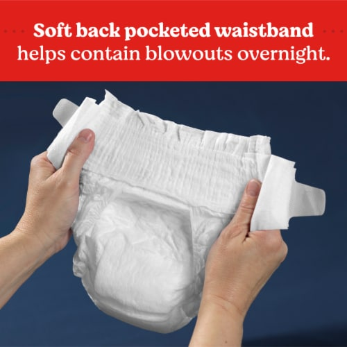 Huggies Overnites Size 6 Baby Diapers Perspective: bottom