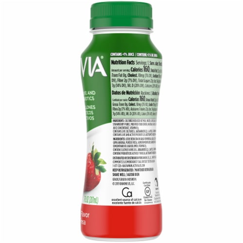 Dannon Activia Strawberry Yogurt Drink Perspective: bottom