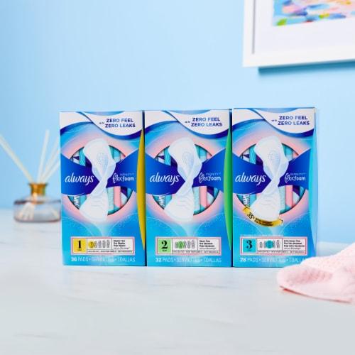 Always Infinity FlexFoam Unscented Regular Size 1 Pads Perspective: bottom