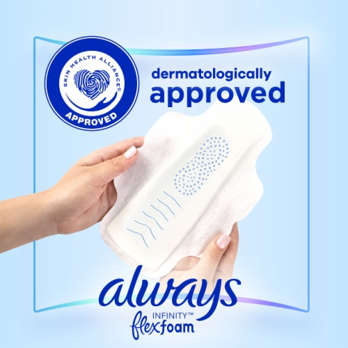 Always Infinity FlexFoam Size 1 Regular Flow Unscented Pads with Flexi-Wings Perspective: bottom