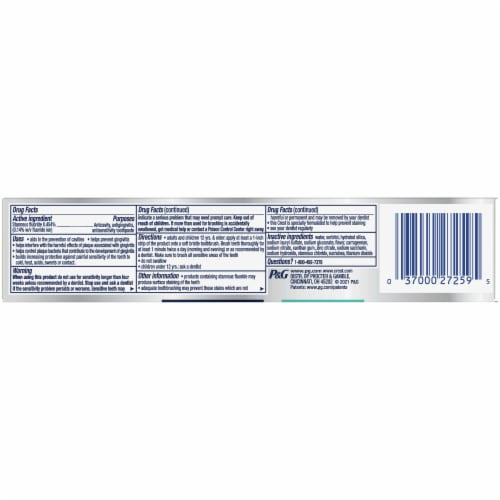 Crest Pro Health Complete Protection Bacteria Shield Toothpaste Perspective: bottom