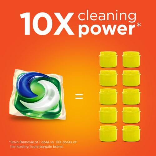 Tide Pods Clean Breeze Liquid Laundry Detergent Pacs Perspective: bottom
