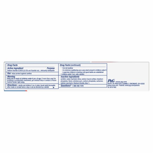 Crest Cavity Protection Toothpaste Regular Paste Perspective: bottom