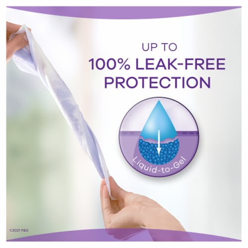 Always Discreet Incontinence Pads for Women Moderate Absorbency Perspective: bottom