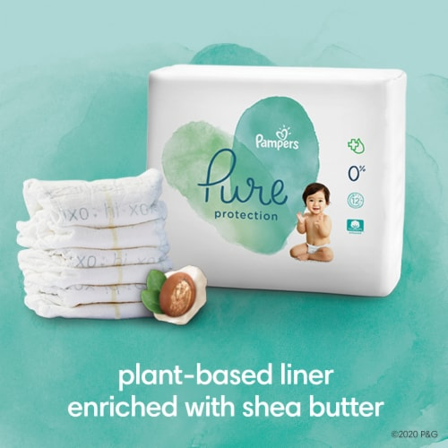 Pampers Pure Protection Size 4 Diapers Perspective: bottom