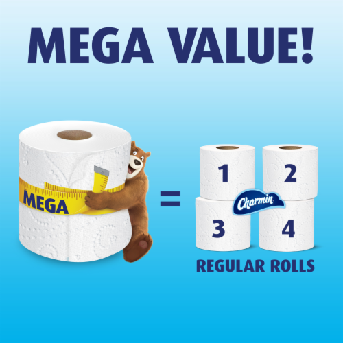 Charmin Toilet Paper Ultra Soft 264 Sheets Per Roll Perspective: bottom