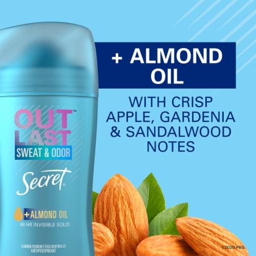 Secret Outlast Almond Oil Solid Antiperspirant Deodorant Stick Perspective: bottom