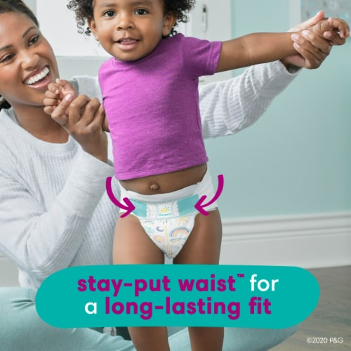 Pampers Cruisers Stay-Put Size 5 Diapers Perspective: bottom