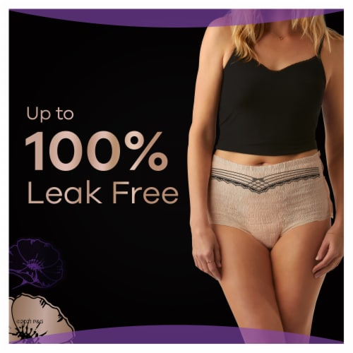 Always Discreet Boutique Small Medium Maximum Incontinence Underwear Perspective: bottom