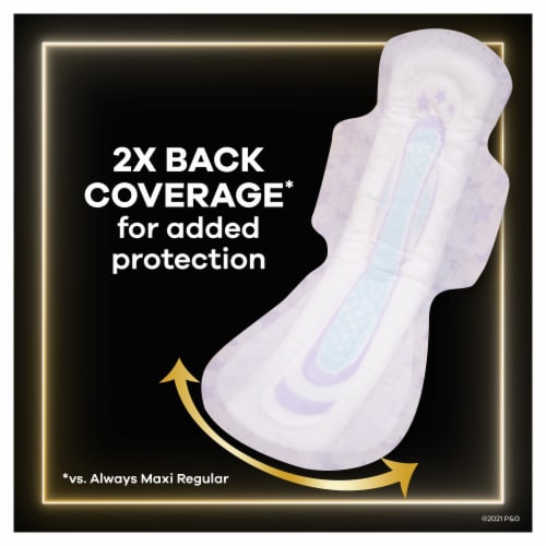 Always ZZZ Size 6 Overnight Pads with Wings Perspective: bottom