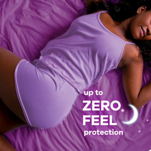 Always Radiant FlexFoam Size 4 Scented Overnight Pads with Wings Perspective: bottom