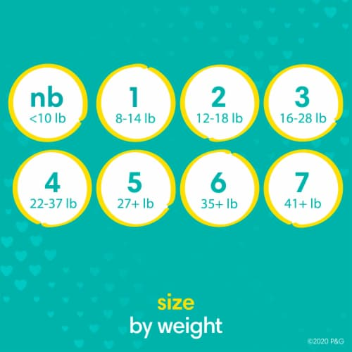 Pampers Swaddlers Size 1 Baby Diapers Enormous Pack Perspective: bottom