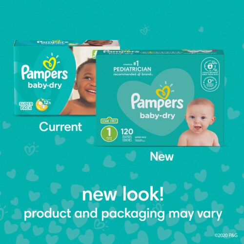 Pampers Baby-Dry Size 4 Diapers Perspective: bottom