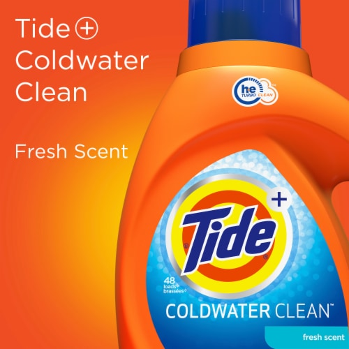 Tide Laundry Detergent Liquid Coldwater Clean Fresh Scent HE Turbo Clean 59 loads Perspective: bottom
