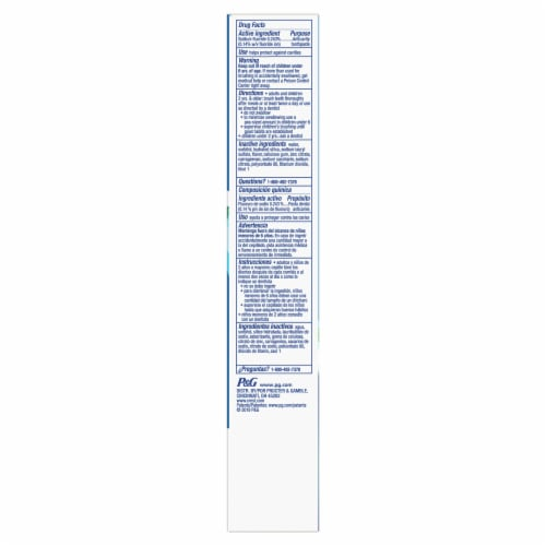 Crest® + Deep Clean Complete Whitening Effervescent Mint Toothpaste Perspective: bottom