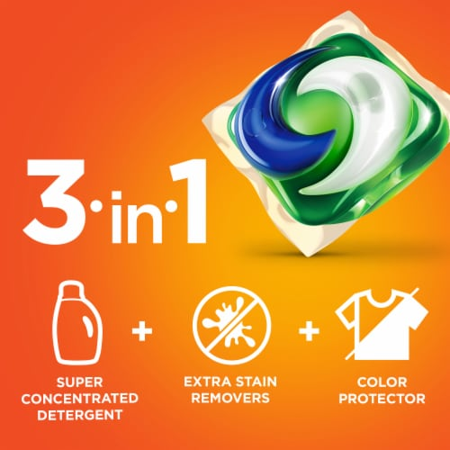 Tide PODS Original 3 in 1 Liquid Laundry Detergent Pacs Perspective: bottom
