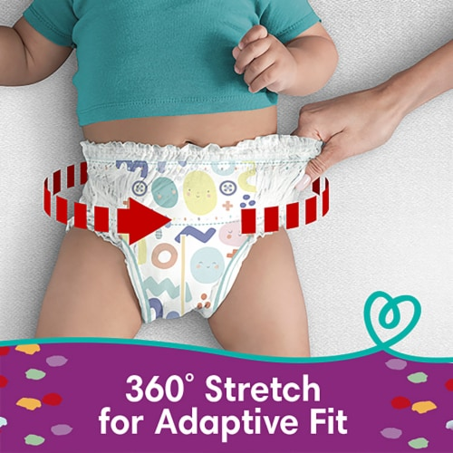Pampers Cruisers 360 Fit Size 4 Diapers Perspective: bottom