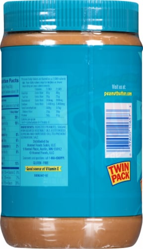 Skippy Creamy Peanut Butter Twin Pack Perspective: bottom
