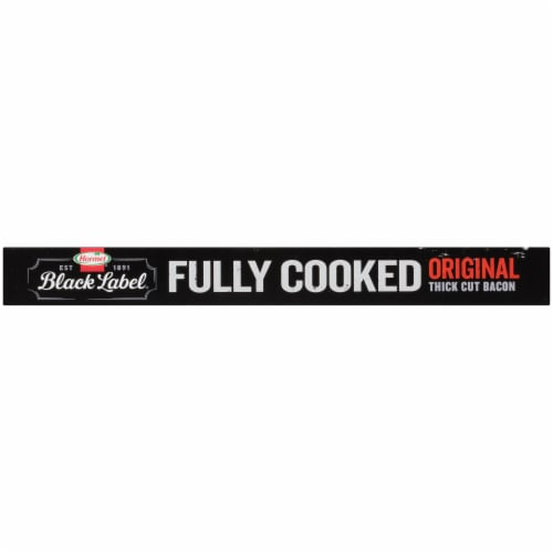 Hormel Black Label Fully Cooked Hardwood Smoked Thick Cut Bacon Perspective: bottom