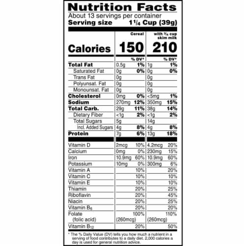 Kellogg's Special K Breakfast Cereal Original Family Size Perspective: bottom