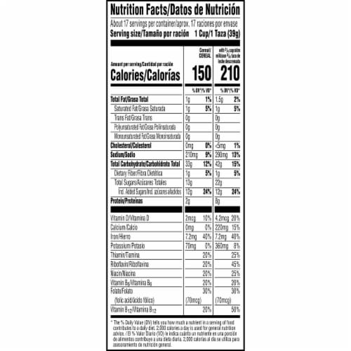 Kellogg's Chocolate Frosted Flakes Cereal Perspective: bottom