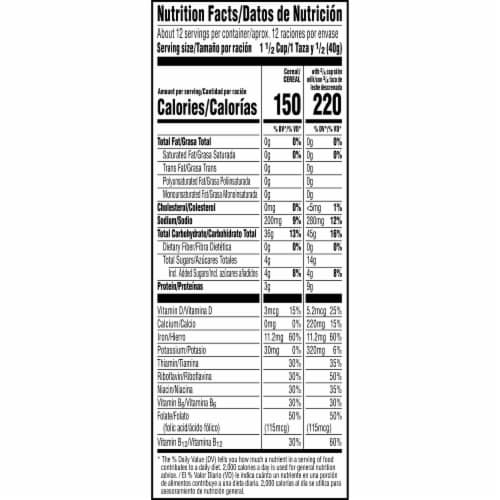 Kellogg's Rice Krispies Breakfast Cereal Original Perspective: bottom