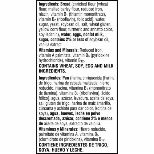 Eggo Thick and Fluffy Frozen Breakfast French Toast Classic Perspective: bottom