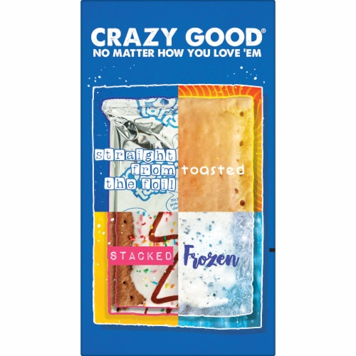 Pop-Tarts Frosted Blueberry Toaster Pastries Perspective: bottom