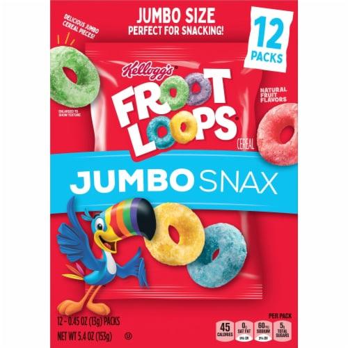 Kellogg's® Froot Loops® Jumbo Snax Original Cereal Snacks Perspective: bottom