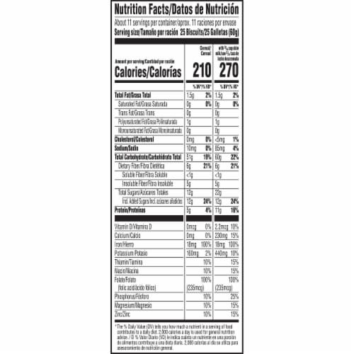 Kellogg's Frosted Mini-Wheats Breakfast Cereal Original Family Size Perspective: bottom