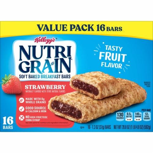 Kellogg's Nutri-Grain Strawberry Soft Baked Breakfast Bars Perspective: bottom