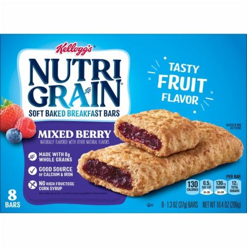 Kellogg's Nutri-Grain Soft Baked Breakfast Bars Mixed Berry Perspective: bottom
