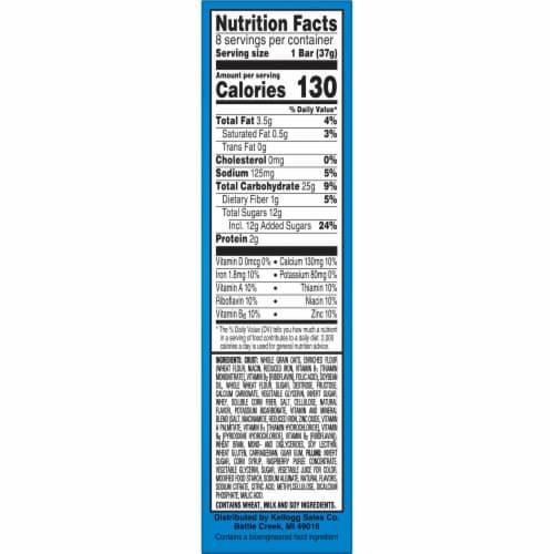 Kellogg's® Nutri-Grain® Raspberry Soft Baked Breakfast Bars Perspective: bottom