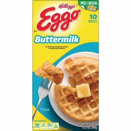 Eggo Frozen Breakfast Waffles Buttermilk Perspective: bottom