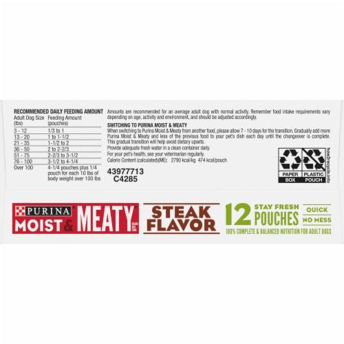 Moist & Meaty Steak Flavor Wet Dog Food Pouches Perspective: bottom