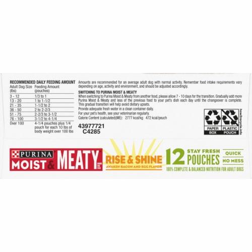 Moist & Meaty Rise & Shine Awaken Bacon & Egg Flavor Wet Dog Food 12 Count Perspective: bottom