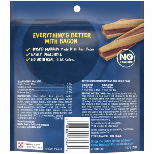 Busy Bone with Beggin' Twist'd Tiny Dog Treats Perspective: bottom
