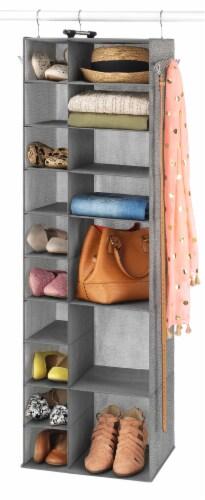 Whitmor Hanging Shoe & Sweater Organizer - Gray Perspective: bottom