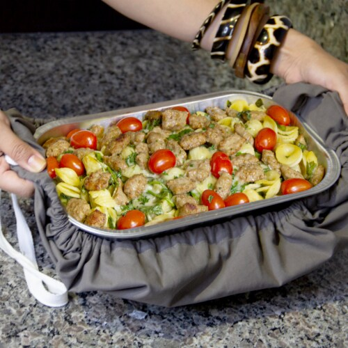 Grand Fusion 2 in 1 Casserole Caddy and Dish Towel Perspective: bottom