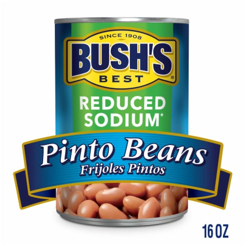 Bush's Best Reduced Sodium Pinto Beans Perspective: bottom