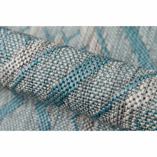 "Madcap Cottage Lake Palace LAK-1 Light Blue Rajasthan Weekend 7'10"" X 10'10"" Rug Perspective: bottom"