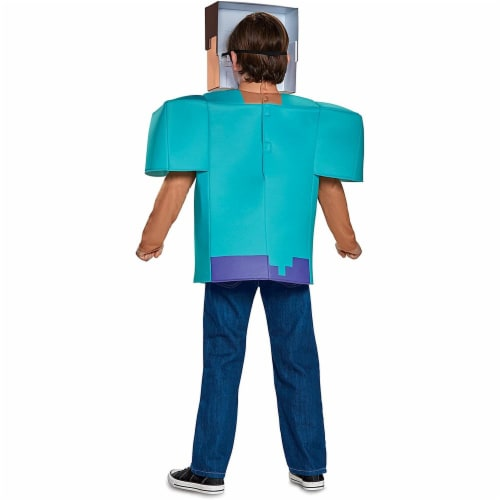 Disguise Steve Classic Minecraft Costume, Multicolor, Small (4-6) Perspective: bottom