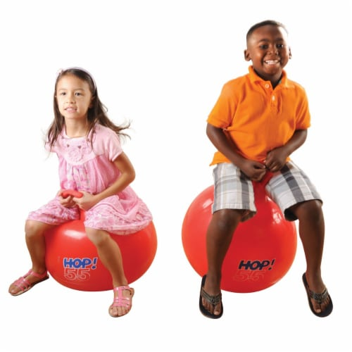 """Gymnic Hop 55 Ball Red 22"""" diameter Perspective: bottom"""