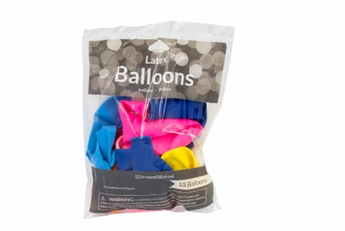 James Paul Products Balloons - 15 pk - Assorted Perspective: bottom