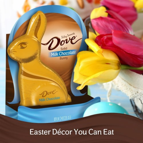 DOVE Easter Candy Milk Chocolate Candy Solid Chocolate Easter Bunny Box Perspective: bottom